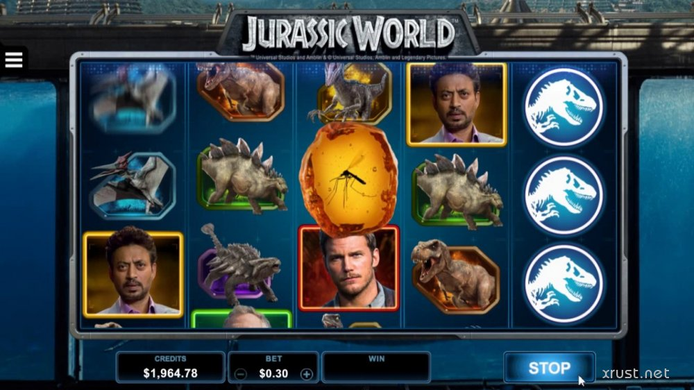 Вулкан Чемпион и автомат Jurassic World